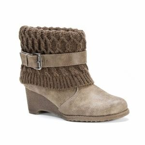 MUK LUKS Deena Brown Synthetic Boots